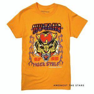 Wu Tang Tiger Style Graffiti Orange Band T-Shirt